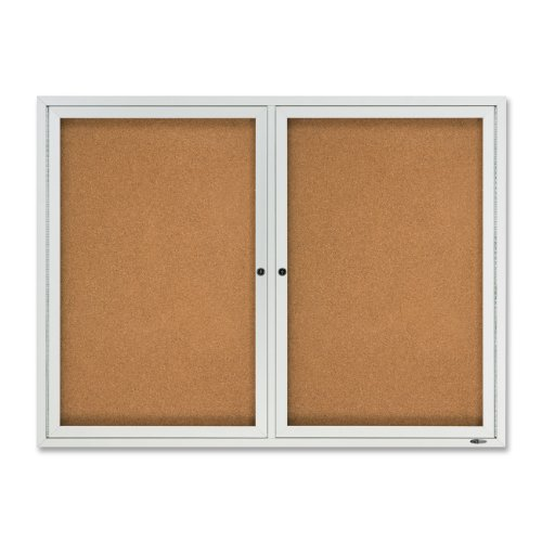 Quartet Outdoor Cork Bulletin Board, Enclosed, 4 x 3 Feet, Aluminum Frame (2124) (Acrylic Enclosed Cork Bulletin Board)