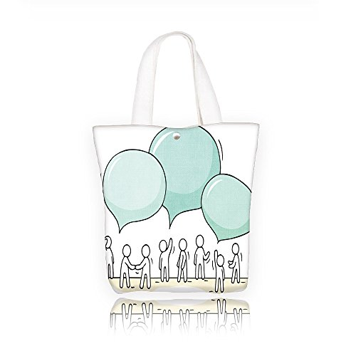 Maid of Honor Tote Bag sketch crowd of working little people with speech bubbles doodle cute miniature teamwork and Bridesmaid Gifts Zip Canvas Cotton(Colourful) (The Best Maid Of Honor Speech)