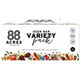 88 Acres Variety Pack Seed Granola Bar, Gluten-free, Nut-free, Non-GMO, Vegan (1.6 Oz, 12 pack)