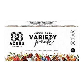 88 Acres Granola Bars | Variety | Gluten Free, Nut-Free Oat and Seed Snack Bar | Vegan & Non GMO | 12 Pack