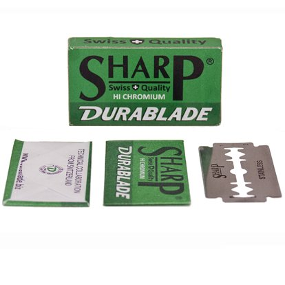 100 SHARP STAINLESS Polymer Coated Double Edge Safety Razor Blades
