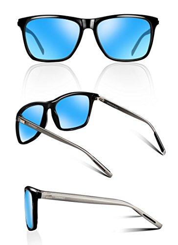 Hommes S1001 B Bleu de SUNMEET Polarisées Protection soleil Lunette Lunettes de UV400 Homme soleil pour Retro Homme Gun qBAYFw6