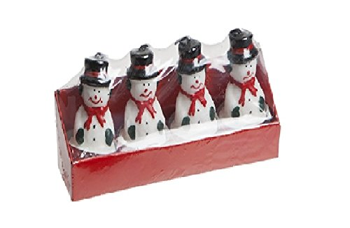 Pack Of 4 - 3D Snowman Tealight Candles - Christmas Candles - Christmas Table Decorations