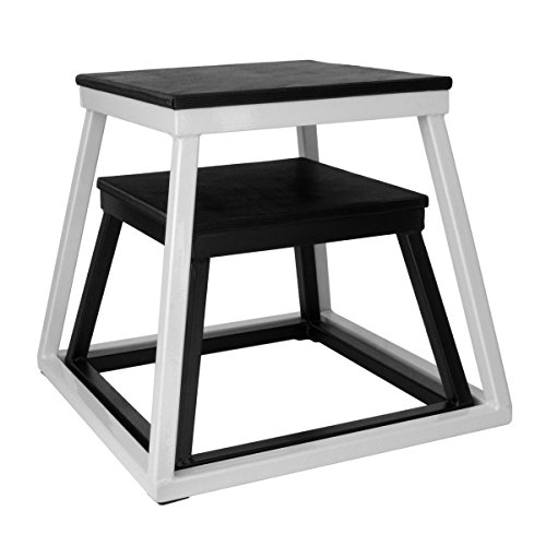 Ader Plyometric Platform Box Set- 12'' Black, 18'' White by Ader Sporting Goods