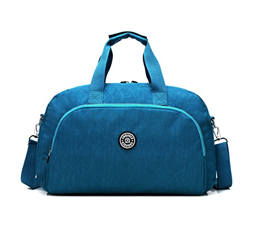 GuiShi(TM) Waterproof Travel Weekender Shoulder Bag Lightweight Gym Tote Organiser Weekender Bag (Sky Blue) by GuiShi