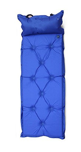 1 x Automatically Air Bed with Pillow - Foldable Inflatable Bed / Inflatable Camping Mat / Airmattress for Camping / Mountaineering / Traveling