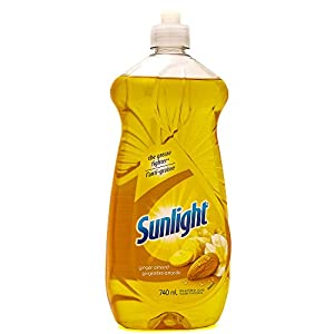 Sunlight Ginger Almond The Grease Fighter, Ginger Almond 25 Fl Oz, Dish Washing Liquid Soap