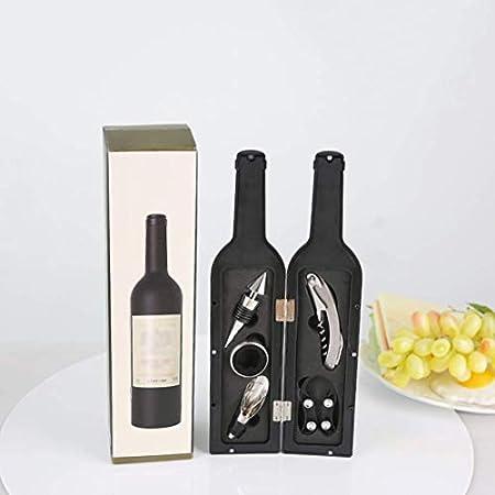DFBGL Juego de abridor de Vino 5 Piezas de Lujo Botella de Vino sacacorchos Screwpull Kit inauguración de la casa Boda Regalo de cumpleaños