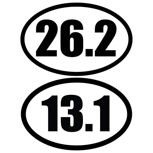 Marathon 26.2 Runner Oval (26.2 & 13.1 Marathon Black Oval Car Magnet Decal Heavy Duty Waterproof)
