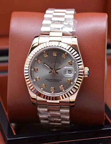 Orologi da uomo di meccanico automatico Datejust acciaio inossidabile zaffiro oro rosa blu nero bianco diamanti Shell orologi 10