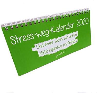 Stress-weg-Kalender 2020 I Format 210 x 105 mm I mit lustigen Sprüchen I dv_666