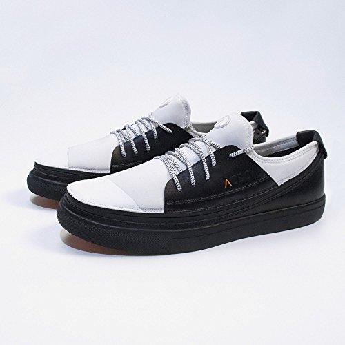 ACBC Scarpa Sneakers con Stringa K2 Suola Nera e Scarpa Bianca con Zip