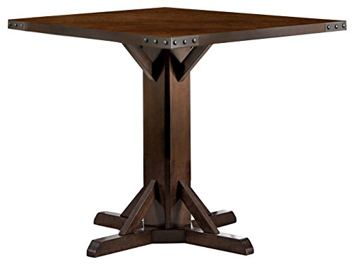 - HOMES: Inside + Out IDF-3018PT Lovo Brown Cherry Counter-Height Table (Set of 2)