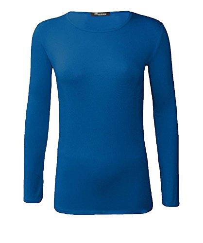 grande Sarcelle haut simple cou 15 longues uni shirt T 8 de femmes manches UK 24 taille ras couleurs NEUF wUnqFAOx