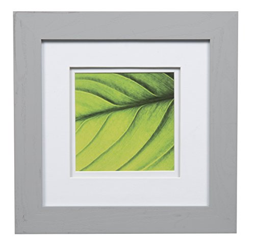 Gallery Solutions 8x8 Flat Grey Tabletop Or Wall Frame with
