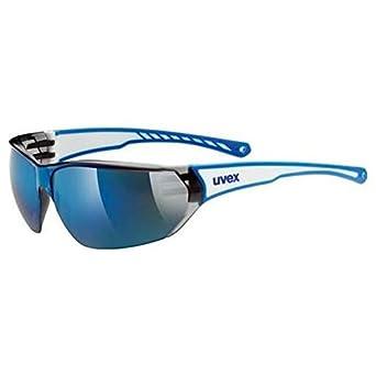 Uvex Sportstyle 204 Gafas de Ciclismo, Unisex Adulto, Blanco/Azul, Talla Única