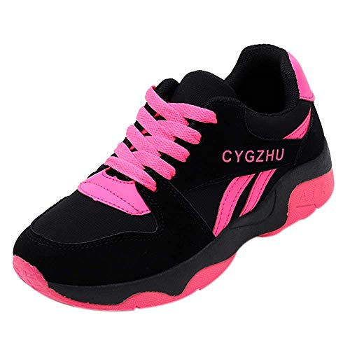 ANOKA Sneakers for Girls Sale Fashion Casual Running Shoes Travel Shoes Student Breathable Sneakers Red Size 6