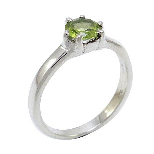 Banithani 925 femmes de la mode péridot argent pierre anneau cadeau de bijoux pour les femmes