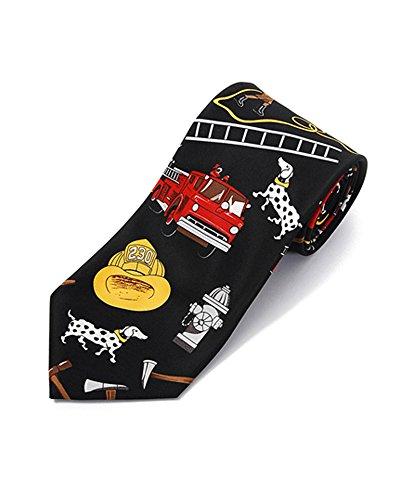 Boxed Tie Fighter - Parquet Firefighter Novelty Tie