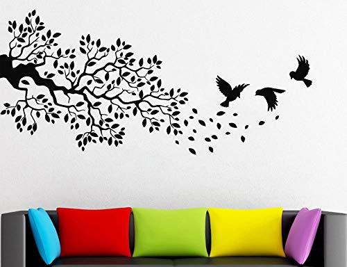 haotong11 Árbol Rama Rama Tatuajes de Pared pájaros Volando Vinilo ...