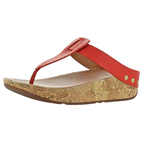 ef76f3238 FitFlop Women s Ibiza Cork Leather Toe-Thong Sandals Flip Flop ...