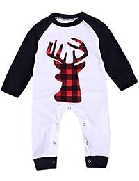 51b09100d35e Newborn Baby Boys Girls Romper Long Sleeve Lattice Deer Spring Summer  Casual Clothing Jumpsuit
