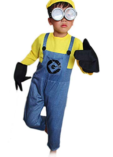 Mitef Little Yellow Men Corps Halloween Cosplay for Boys,XL]()