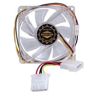 80mm fan white led - 9