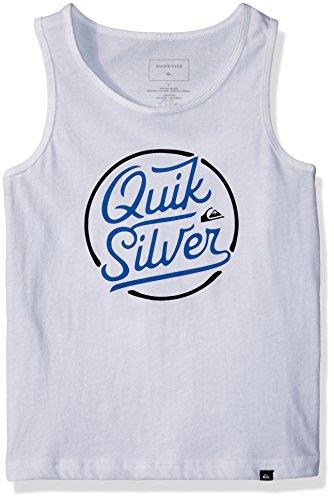 Quiksilver Big Boys' Circle Script Youth Tank, White, XL/16