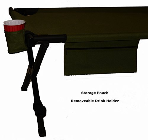 World Outdoor Products TWO PACK Big Bear EXTRA LARGE Military Style Aircraft Grade Anodized Aluminum Frame Sleeping Co, Two Cup Holders, and TWO EMERGENCY POWER WHISTLES. by World Outdoor Products (Image #5)