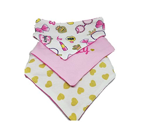 Juicy Couture Baby Bibs, Set of 3 (Couture Bib)