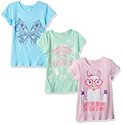 The Children\'s Place Big Girls\' Graphic T-Shirts (Pack of 3), Multi Clr, L (10/12)