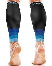 aZengear Calf Sleeves for Men & Women (20-30 mmHg) - Calf Support - Compression Calf Guards - Leg Sleeves for Torn Muscle - Shin Splints Brace (Pair)