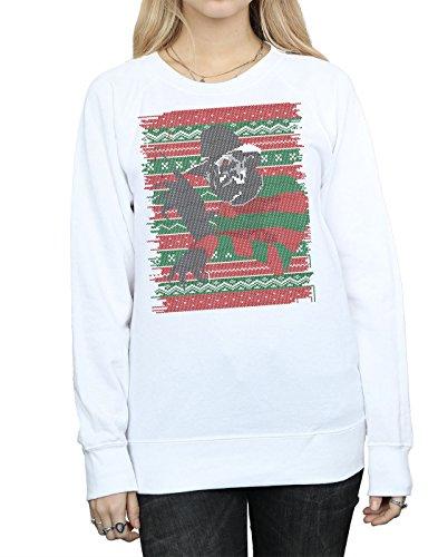 Femme Elm Street Sweat Blanc On shirt Fair Christmas Isle Nightmare twP1q75Ex5