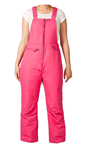 (Arctix Women's Big Kids Youth Insulated Bib Overalls, Fuchsia, Medium)