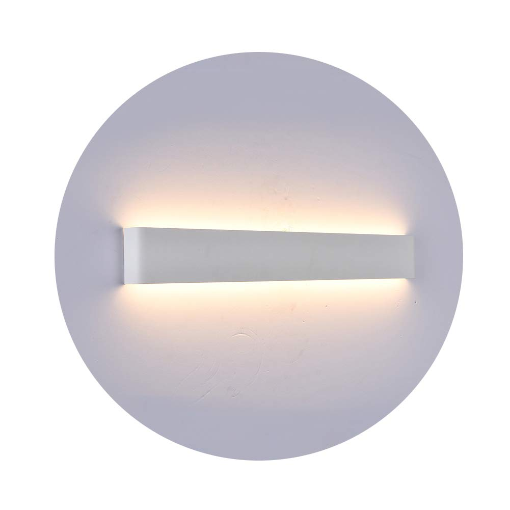K-Bright LED Spiegellampe Badleuchte, 16W, 20 Zoll, Wandleuchte Schranklampe IP44, AC 86-265V Make up licht, Spiegellicht für Bild Display Wohnzimmer Flur Schlafzimmer Treppen, 6000-6500K Weiß, Weiß Schale 3