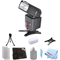 Dedicated Essential Slr Ttl Flash For Nikon D3000, D3100, D3200, D3300, D90, D7100, D600, D610, D700 with a Complete Starter Kit