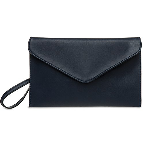 Clutch Blue CASPAR Envelope Women TA310 Dark ptUwPz