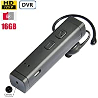 Spy DVR 1080P FHD Hidden Camera Wireless Functional Mini Bluetooth Headset Hidden Spy Camera 16GB Memory Included Long Battery Operating Life