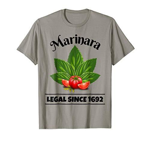 Marinara Legal Since 1692 Basil Leaves and Tomatoes Italy Food Humor T-Shirt