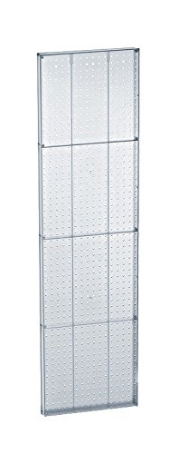 Lot of 2 New Clear Molded 16 Width x 60 High Plastic Pegboard Wall Panels