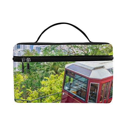 - Old-fashioned Red Tram On Street Pattern Lunch Box Tote Bag Lunch Holder Insulated Lunch Cooler Bag For Women/men/picnic/boating/beach/fishing/school/work