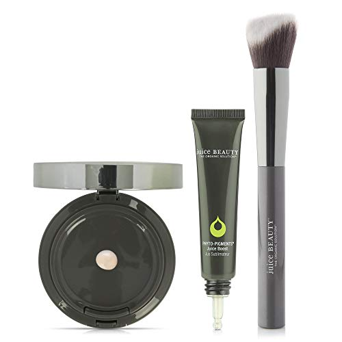 Juice Beauty Phyto-Pigments Trio - Juice Boost (Illuminating), Sculpting Brush, Youth Cream Compact Foundation (Sand)