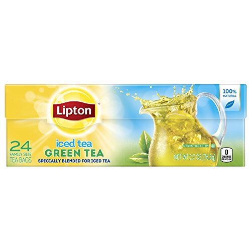 - Lipton Family-Sized Iced Tea Bags Green Tea 24 ct, pack of 6