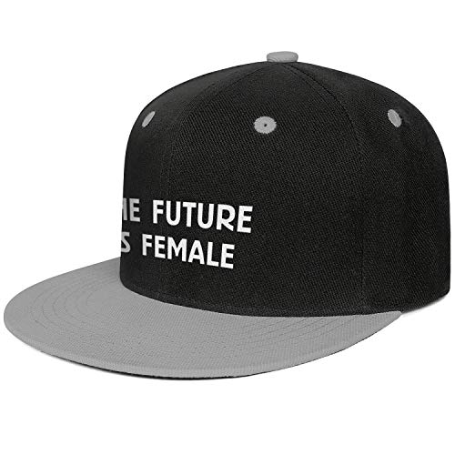 DXQIANG The Future is Female Unisex Novelty Flat Bill Dad Hat Adjustable Snapback Hat -