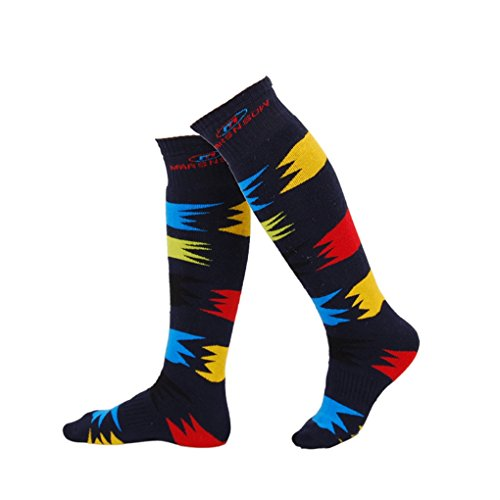 QASocks Cool Winter Knee High Fashion Workout Sport Compressioncolorful Men's Skiing (Sexy Phd Outfit)