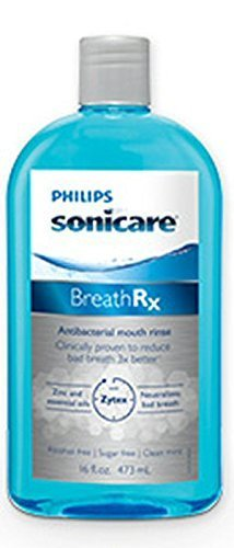 (BreathRx Anti-Bacterial Mouth Rinse, 16 Ounce Bottle)