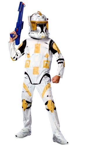[Clone Trooper Commander Cody Costume - Standard - Chest Size 40-44] (Star Wars Commander Cody Costumes)