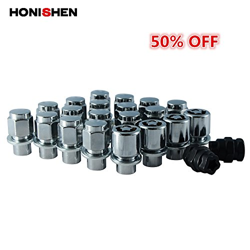 Honishen M12x1.5 Wheel Nuts and Lock Nuts Set