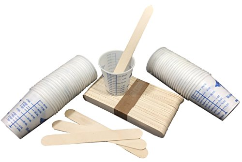 Polyester Epoxy Resin (Mix Kit Combo 50 Mixing Sticks 50 Graduated Cups For Epoxy Resin, Polyester Resin, Paints)